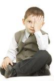 Kid closing eye royalty free stock photos