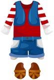 Kid clothes stock illustration
