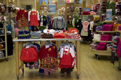 Kid clothing store royalty free stock photography