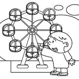Kid coloring page Royalty Free Stock Image