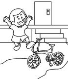 Kid coloring page Stock Photography