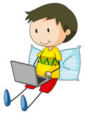 Kid and computer Stock Images
