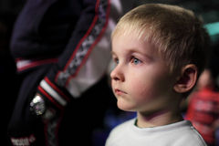 Kid at a concert. Portrait of a kid at a concert Stock Photos