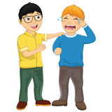 Kid Consoling Friend Vector Illustration. 