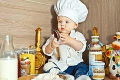 Малыш поварёнок Royalty Free Stock Photography