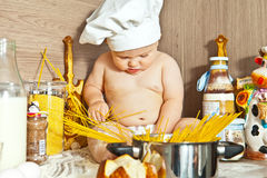 Kid the cook Royalty Free Stock Images