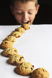 Kid Cookie Trail Stock Images