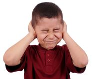 Free Kid Covering Ears Royalty Free Stock Photography - 18342447