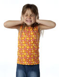 Kid Covering Ears royalty free stock photography