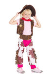 Kid cowgirl Stock Image