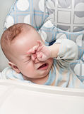 Kid cries Stock Images