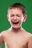 Kid crying with pain Royalty Free Stock Images