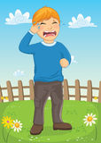 Kid Crying Vector Illustration Stock Photos