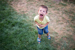 Free Kid Crying Very Loud In A Temper Tantrum Royalty Free Stock Photos - 63462408