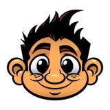 Kid cute face cartoon illustration icon Stock Photography