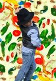 Kid dancing Stock Photography