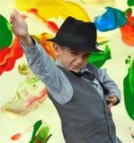 Kid dancing Stock Images