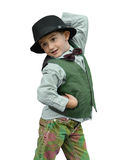 Kid dancing. Child dancing on a white background Stock Image