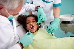 Kid on dental check up Royalty Free Stock Image
