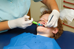 Kid at dentist Royalty Free Stock Photos