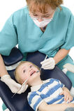 Kid at dentist Royalty Free Stock Image