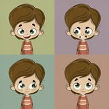 Kid with different emotions Royalty Free Stock Photos