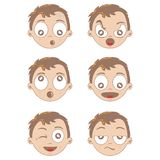 Kid different face expression Stock Image