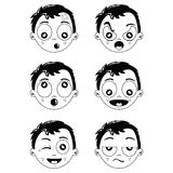 Kid different face expression Stock Photo