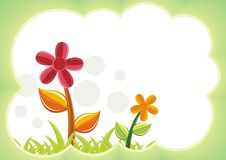 Kid Diploma certificate background design. Kids Diploma certificate background design template vector illustration with flower, grass, cloud and nature theme vector illustration