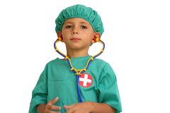 Kid doctor royalty free stock photo