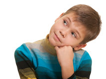 Kid doesn't believe you! Stock Image