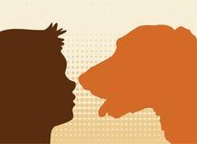 Kid & dog Royalty Free Stock Image