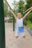 Kid doing exercise Royalty Free Stock Photography