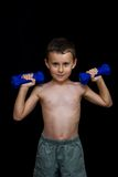 Kid doing fitness Royalty Free Stock Photography