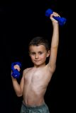 Kid doing fitness Royalty Free Stock Photo