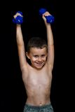 Kid doing fitness Royalty Free Stock Images