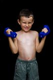 Kid doing fitness Stock Photo