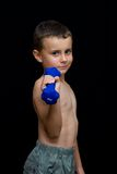 Kid doing fitness Royalty Free Stock Image