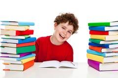 Kid doing homework Royalty Free Stock Images