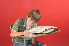 Kid doing school work Royalty Free Stock Photography