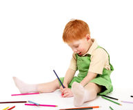 Kid drawing Royalty Free Stock Image