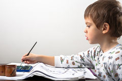 Kid drawing Stock Photos