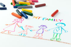 Kid drawing Royalty Free Stock Photography