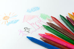 Kid drawing Royalty Free Stock Photo