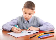 Kid drawing Stock Photography