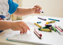 Kid drawing Royalty Free Stock Images