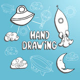 Kid drawing set Royalty Free Stock Images