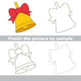 Kid drawing worksheet to complete picture by sample. Drawing worksheet for preschool kids with easy gaming level of difficulty, simple educational game for kids Stock Images