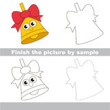 Kid drawing worksheet to complete picture by sample. Drawing worksheet for preschool kids with easy gaming level of difficulty, simple educational game for kids Stock Photo