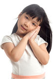 Kid with dreaming pose Royalty Free Stock Photos